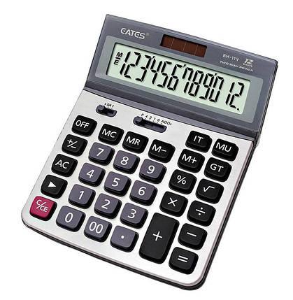 """Настольный калькулятор  """"EATES"""" BM-11V (12 разрядный, 2 питания), фото 2"""