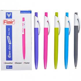 """Ручка шариковая Flair """"Ezee-click"""" синяя"""