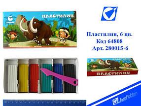 """Пластилин 280015-6 """"Каменный век"""" 6 цв. в картонной упаковке со стеком"""