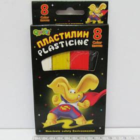 Пластилин 1162 (8 цв.) в картонной упаковке