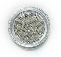 Бульонки металлические серебро