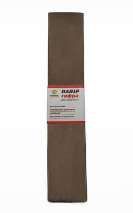 Гофро-бумага 60% 14CZ-020 светло-коричневая (50*200 см., 10 шт./уп.), фото 2