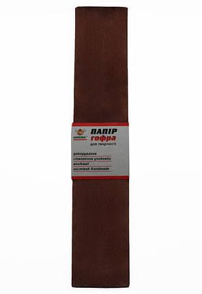 Гофро-бумага 60% 14CZ-021 коричневая (50*200 см., 10 шт./уп.), фото 2