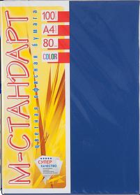 Бумага A4 'М-Стандарт' ТЕМНЫЕ ТОНА 42A (Cobalt) 100 л./80 гр.