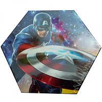 """Набор для детского творчества """"Капитан Америка"""" (46 предметов) шестигранный"""