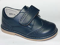 Детские кожаные ортопедические туфли Шалунишка-ортопед р.21 стелька 13.5см для мальчиков темно-синие