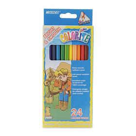 """Олівці кольорові 24 кольори """"MARCO"""" Colorite 1150-24CB"""