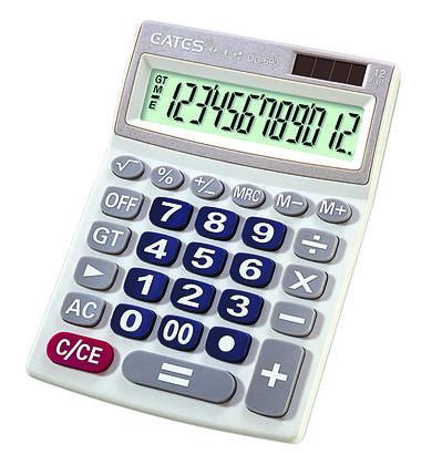 """Настольный калькулятор """"EATES"""" DC-690 (12 разрядный, 2 питания), фото 2"""