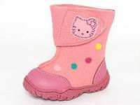 Детские очень теплые валенки Шалунишка-ортопед р.22,24,26 девочкам розовые
