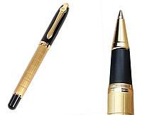 Ручка шариковая поворотная BAOER 701B черная с позолотой