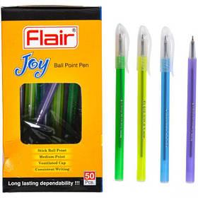 """Ручка кулькова Flair """"JOY"""" (1105) синя (кольоровий корпус)"""
