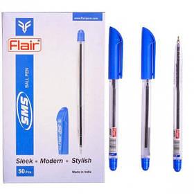 """Ручка кулькова масляна Flair """"SMS"""" синя"""