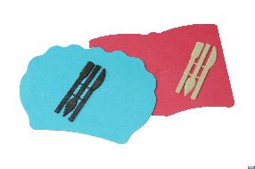 "Доска для пластилина ""Люкс Колор"" ДПФ-5 фигурная (книга, рыба, ракушка)+стеки"