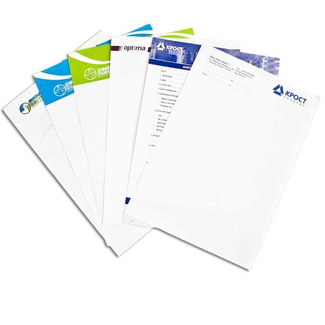 Печать бланков компании