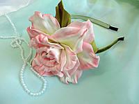 Ободок с розовой розой
