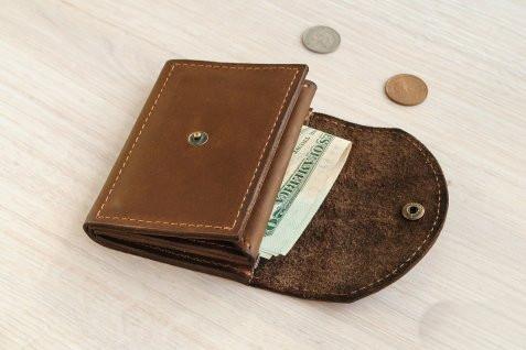 """Чоловічий гаманець """"Сrook"""" ручної роботи"""