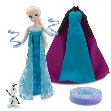 Эльза поющая кукла принцесса Дисней Холодное сердце в подарочной коробке с аксессуарами / Elsa Frozen Dis
