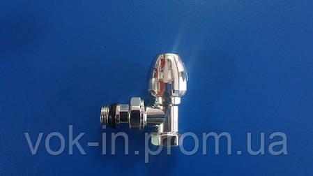 Подключение радиатора ICMA угловой 1/2 ХРОМ, фото 2
