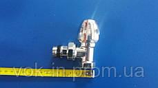 Подключение радиатора ICMA угловой 1/2 ХРОМ, фото 3