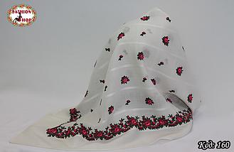 Платок белый шерстяной Кристина, фото 3