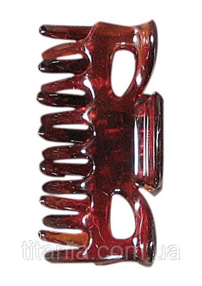 Зажим для волос 6 см. 2 шт. в наборе 2 штуки коричневый TITANIA art.8020/8 B