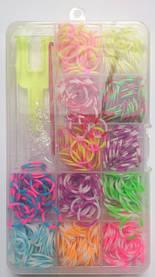 """Набор для творчества """"Резинки для плетения"""" в коробке, двухцветные (600 шт.)"""