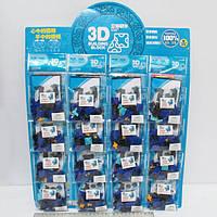 """Конструктор пластиковый K1356 3D """"Машинка"""" (набор на листе 16 шт.) 31 деталь"""