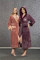 Махровый бамбуковый халат Nusa 3920-1 Фиолетовый