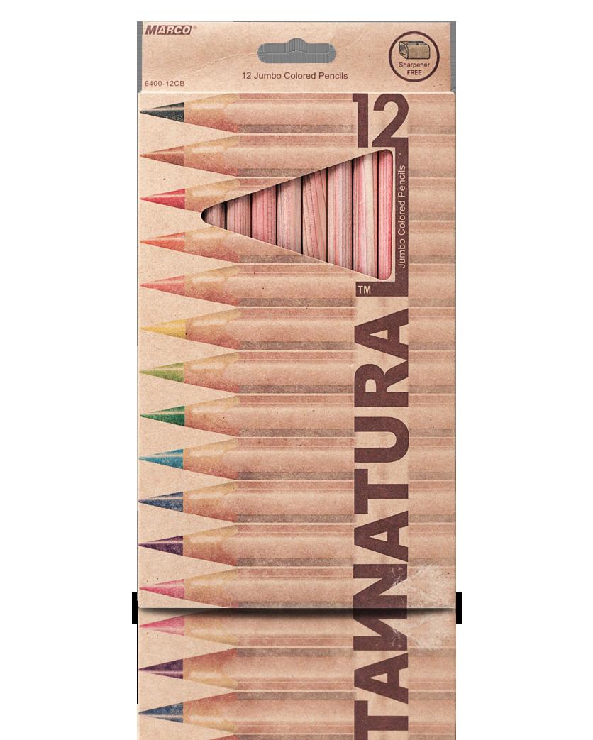 """Карандаши цветные 12 цветов """"MARCO"""" Natural Jumbo 6400-12CB"""