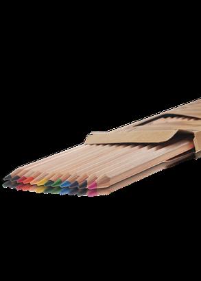 """Карандаши цветные 12 цветов """"MARCO"""" Natural Jumbo 6400-12CB, фото 2"""