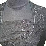 Полувер нарядный черный вязанный букле со стразами и декольте распродажа, фото 9