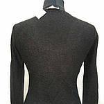 Полувер нарядный черный вязанный букле со стразами и декольте распродажа, фото 8