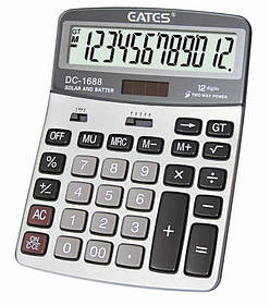 """Настільний калькулятор """"EATES"""" DC-1688 (12 розрядний, 2 живлення)"""