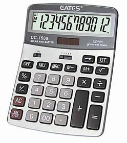 """Настольный калькулятор """"EATES"""" DC-1688 (12 разрядный, 2 питания)"""