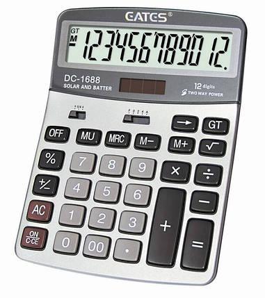 """Настольный калькулятор  """"EATES"""" DC-1688 (12 разрядный, 2 питания), фото 2"""