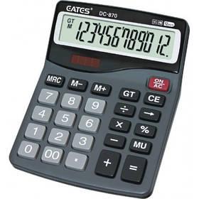 """Настільний калькулятор """"EATES"""" DC-870 (12 розрядний, 2 живлення)"""