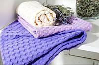 Полотенце вафельное (фиолетовый)