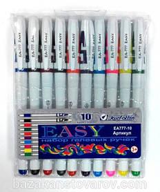 """Набор гелевых ручек """"Easy gel"""" EA777-10 (10-цв., белый корпус)"""