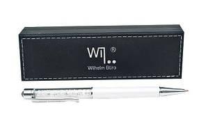 Ручка шариковая Wilhelm Buro WB106 поворотная, белая (в подарочном футляре)