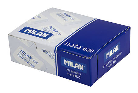 Ластик Milan 630 Nata White technik прямоугольный (HB) 2*4 см., фото 2