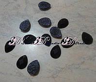 Камни клеевые Капля 13*18 мм черный №39
