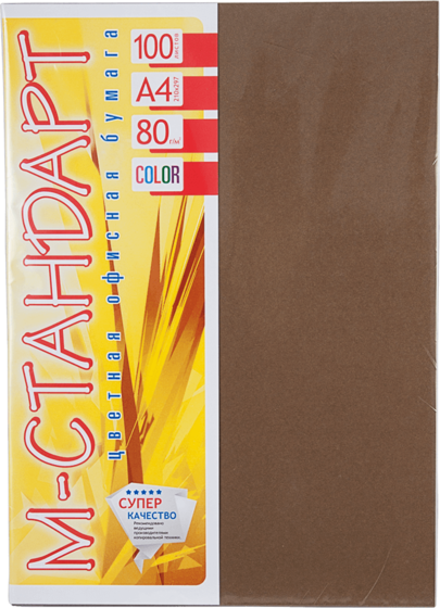 Бумага A4 'М-Стандарт' ТЕМНЫЕ ТОНА 43A (Chocolate) 100 л./80 гр.