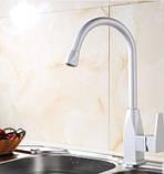 Смеситель кран на кухню для мойки раковины однорычажный, фото 2