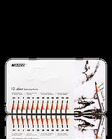 """Карандаши графитные """"MARCO"""" Raffine в металлическом пенале (12 шт., от 2H - до 8В)"""