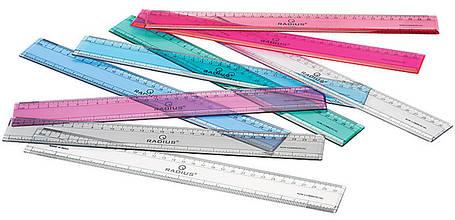Лінійка 30 див. RADIUS прозора, 4 кольори, фото 2