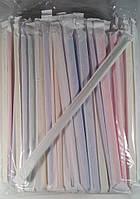 Трубочки для напитков d4,8см-21 см в индивид. упак. Микс/гофра  (уп.200шт.)
