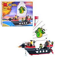 Конструктор BRICK 301/298784 Пиратская серия, корабль, 211 деталей, фигурки, в коробке, 24-19-4,5 см
