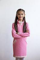 Стильное платье из двухнитки (р.134,140)