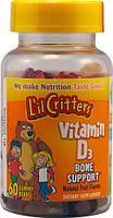 L'il Critters Vitamin D3 Bone Support витамины детские жевательные  60шт