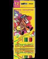 """Карандаши цветные 12 цветов """"MARCO"""" Пегашка 1010-12CB"""